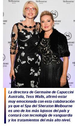 Germaine de Capuccini colabora con la cadena hotelera Starwood Hotels & Resorts