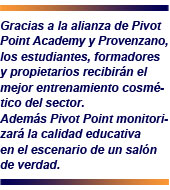 Pivot Point Academy y Denise Provenzano